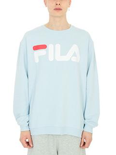 Fila-Felpa logo in cotone celeste