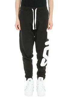 Fila-Pantalone Jogging in cotone nero