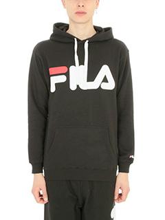 Fila-Felpa logo in cotone nero