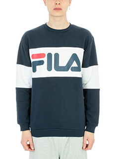 Fila-Felpa logo in cotone blu