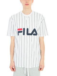 Fila-Camicia da Baseball in cotone bianco