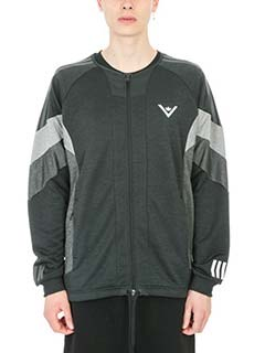 Adidas by White Mountaineering-Felpa Challenger in cotone nero