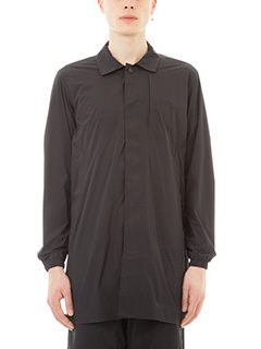 Monobi-Giacca camicia Aura in nylon nero