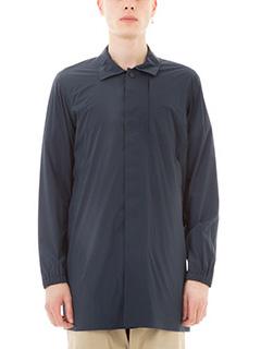 Monobi-Giacca camicia Aura in nylon blu