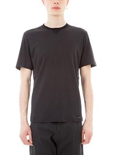 Monobi-T-shirt bonded in cotone nero