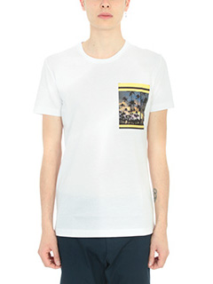Low Brand-T-shirt Palms in cotone bianco