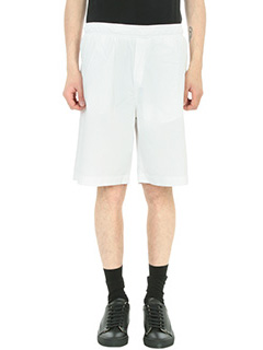 Low Brand-Shorts in cotone bianco