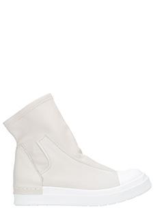 Cinzia Araia-Sneakets alte Slip On in pelle bianco gesso