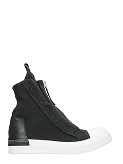 Cinzia Araia-Sneakers alte in canvas nero