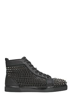 Christian Louboutin-Sneakers Louis Orlato in pelle nera