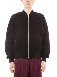 Adidas per Alexander Wang-Bomber Reversible in eco sheepskin nero