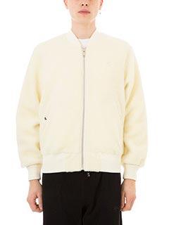 Adidas per Alexander Wang-Bomber Reversible in eco sheepskin beige