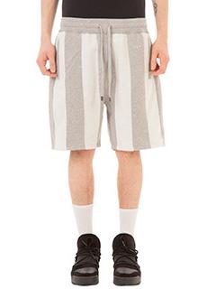 Adidas per Alexander Wang-Shorts Inout  in cotone grigio bianco