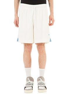 Adidas per Alexander Wang-Shorts FBall in jersey bianco