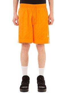 Adidas per Alexander Wang-Shorts FBall in jersey arancione