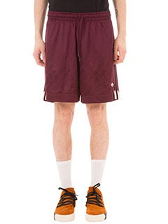 Adidas per Alexander Wang-Shorts FBall in jersey bordeaux