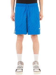 Adidas per Alexander Wang-Fball  blue cotton and nylon shorts
