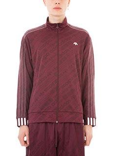 Adidas per Alexander Wang-Felpa Icon Fb TT in nylon e cotone bordeaux