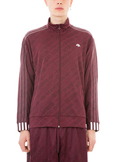 Adidas per Alexander Wang-Felpa Icon Fb TT in nylon e cotone bordeaux