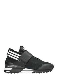 Y-3-Sneakers Atira in pelle e rete nera
