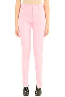 Balenciaga-Pantaloni in viscosa rosa