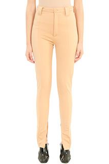 Balenciaga-Pantaloni in viscosa ocra