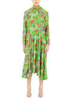 Balenciaga-Vestito in viscosa verde
