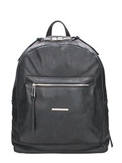 Marcel Martillo-Collin  black leather backpack