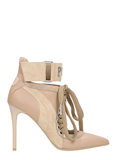 Puma Fenty-Lace up  beige leather ankle boots