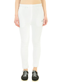 Golden Goose Deluxe Brand-Pantalone Haus Jogging in cotone bianco