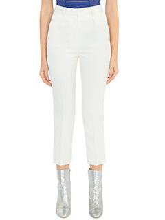 Iro-Pantaloni in viscosa ecru