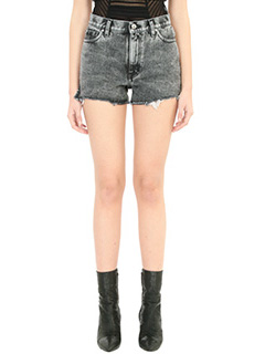 Iro-Belina black denim shorts