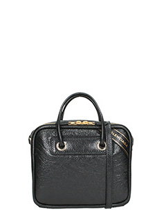 Balenciaga-Blanket square black leather bag