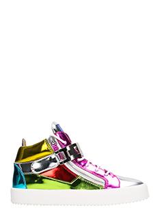 Giuseppe Zanotti-Sneakers Mid in pelle  metal multicolor