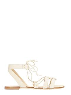 Vicini-Sandali Jop  in pelle papiro