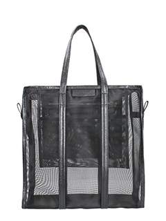 Balenciaga-Borsa Bazar Shopping M in nylon nero