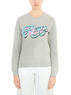 Kenzo-Kenzo Lyrics grey cotton sweatshirt