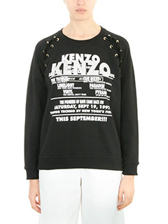 Kenzo-Felpa Kenzo Glitter in cotone nero