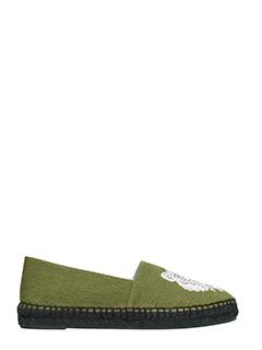 Kenzo-Tiger green fabric espadrilles