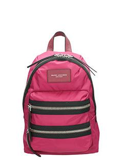 Marc Jacobs-Zaino Biker  Mini Backpack in nylon rosa