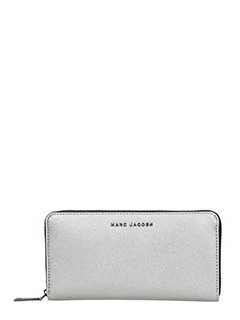 Marc Jacobs-Standard contin silver leather wallet