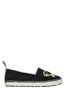 Kenzo-Espadrillas K-Patch  in suede nero