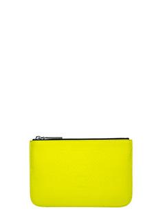 Kenzo-Pochette Small Neon in pvc nero giallo