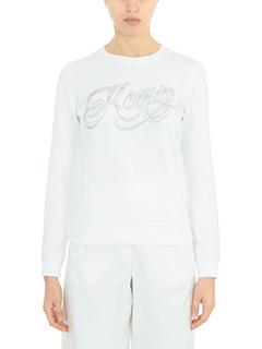 Kenzo-Felpa Kenzo Lyric in cotone bianco