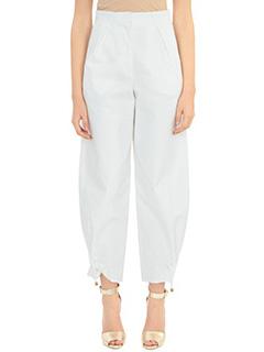 Kenzo-Pantaloni Hight Waisted in cotone bianco
