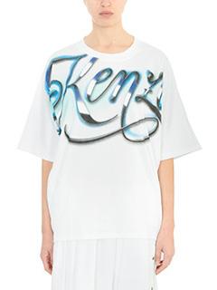 Kenzo-Kenzo Lyrics white cotton t-shirt