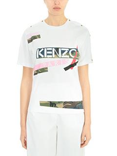 Kenzo-Broken Camo white cotton t-shirt