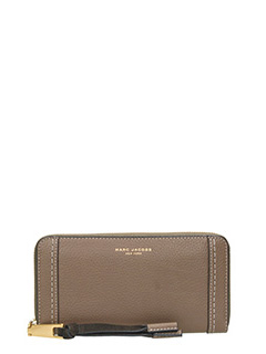 Marc Jacobs-Standard contin beige leather wallet