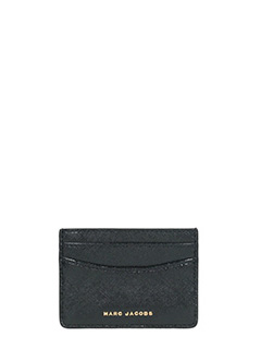 Marc Jacobs-Card case  black leather wallet
