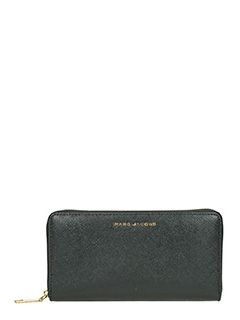 Marc Jacobs-Vertical zippy black leather wallet
